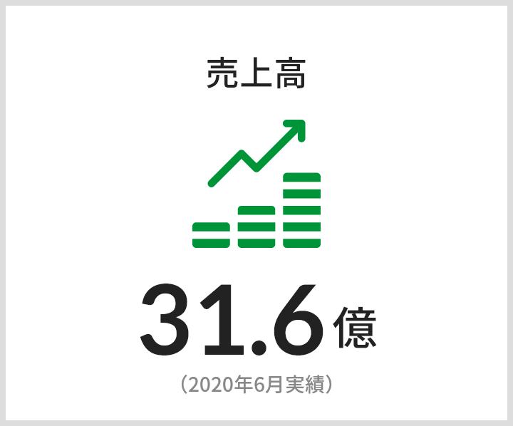 売上高 31.6億(2020年6月年実績)