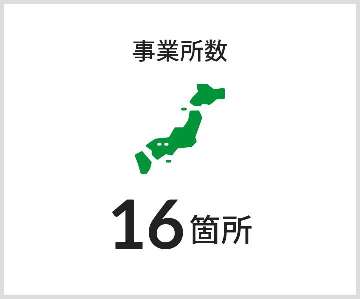 事業所数 16箇所